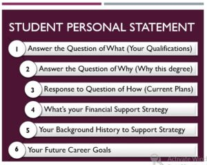 Example of an O Level Student Personal statement