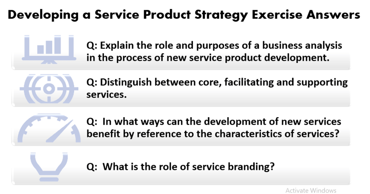 Service Product Strategy Exercise Answers
