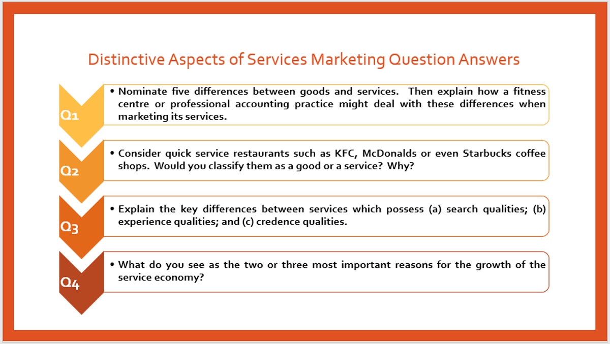 Services Marketing Chapter 1 Exercise Answers