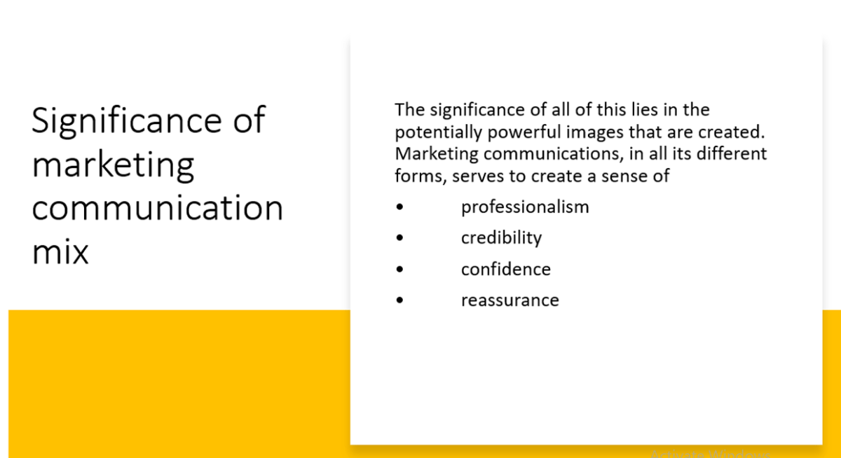 Role of Marketing Communication Mix in Promoting Services