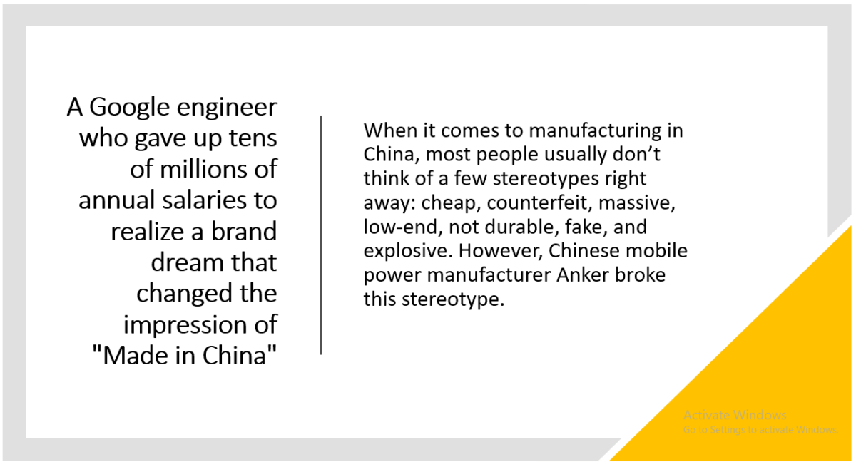 Changing 'Made in China' brand myth in US – Anker Example