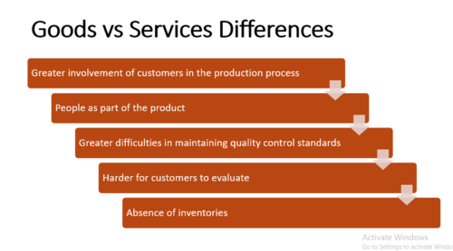 Differences Between Goods and Services - Examples