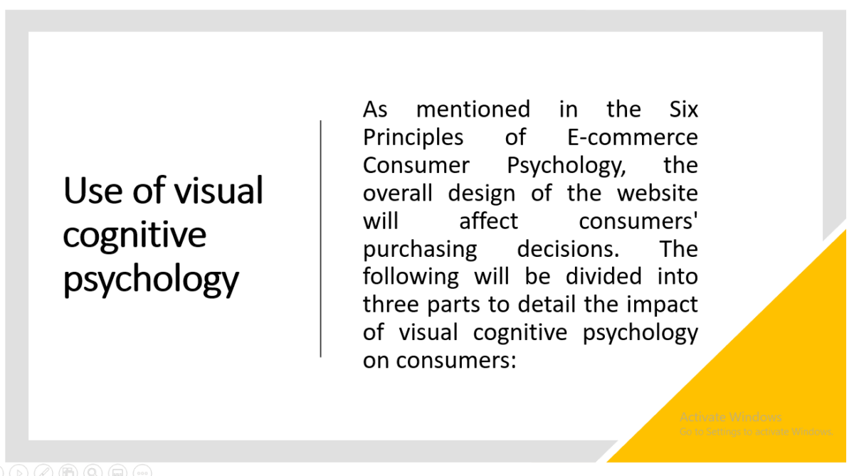 Visual Cognitive Psychology Impact on Consumers